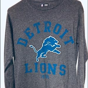 Boys long sleeve Detroit Lions shirt cotton/poly *